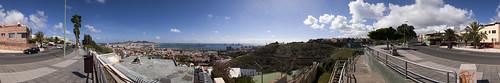 Las Palmas de Gran Canaria desde la calle Sedeño. Isla de Gran Canaria