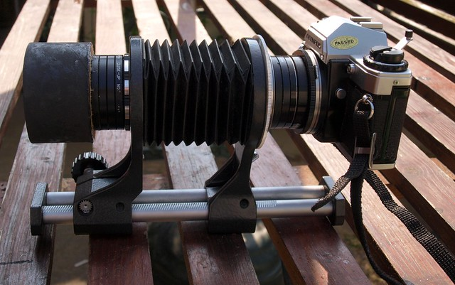 Home-made Petzval-style lens