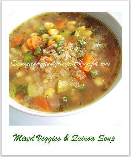 Mixed Veggies & Quinoa Soup