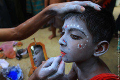 Charak Makeup (mostakim timur) Tags: boy red color canon eos mirror is kiss child makeup dhaka 1855mm bangladesh efs puja preparation timur x3 500d f3556 dhamrai charak mostakim t1i chorok mostakimtimur mdmoazzemmostakim