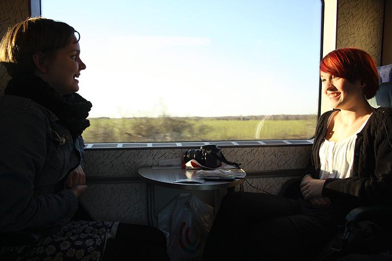 Åkte tåg till Köpenhamn. Åkte tåg tillbaka dagen efter. Väldigt fint.