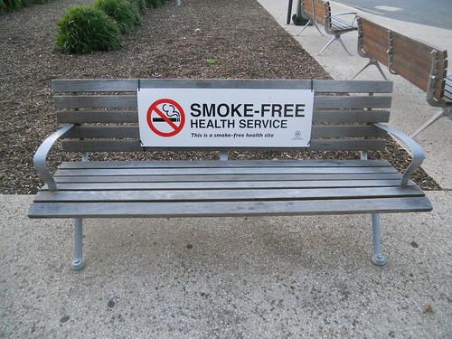 Smoke-Free Bench