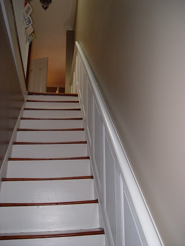 Hold On Tight Staircase Wainscoting And Handrail Project Old Town