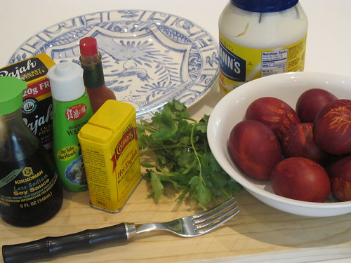 Ingredients for the eggs