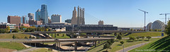 Kansas City Skyline, Panorama, 7 Oct 2010 (photography.by.ROEVER) Tags: autostitch panorama skyline october panoramic kansascity missouri kc kcmo downtownkansascity 2010 summitstreet bartlehall kansascitymo jacksoncounty kansascitymissouri downtownkc powerandlightbuilding onekansascityplace kansascityskyline kcskyline summitst kauffmancenterfortheperformingarts bartlehallpylons downtownloop october2010 downtownkcloop
