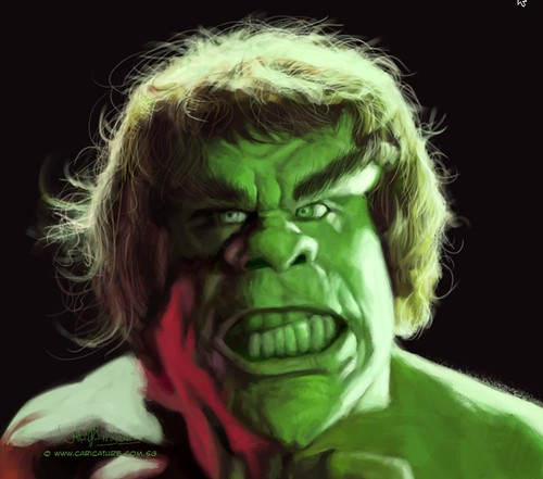 digital sketch study 2 of Lou Ferrigno - 5