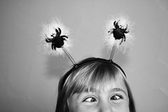 make sure you laugh a little today (catklein) Tags: silly halloween goofy fun kid crosseyed funny spiders goofball spiderwebs someonestopme shes5goingon15