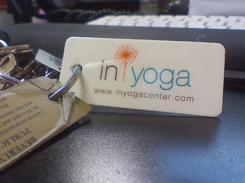 In Yoga Center keychain by Petunia21