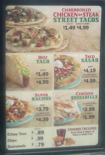 Green Burrito Revamped Menu Board #2