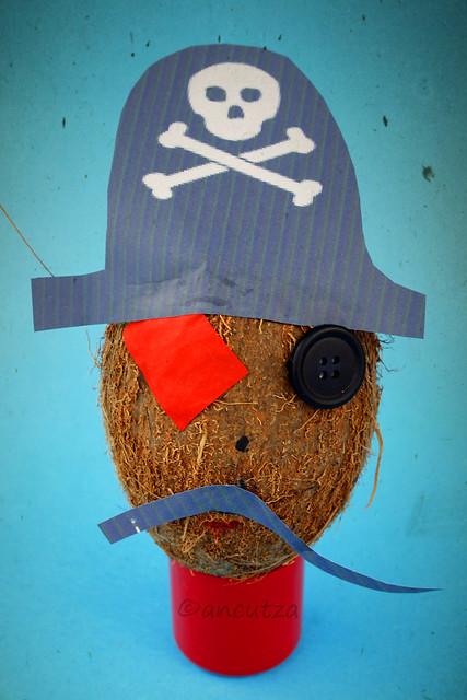 noce di cocco travestita da pirata