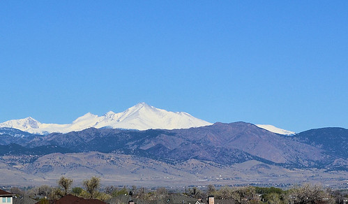 Longs Peak in April