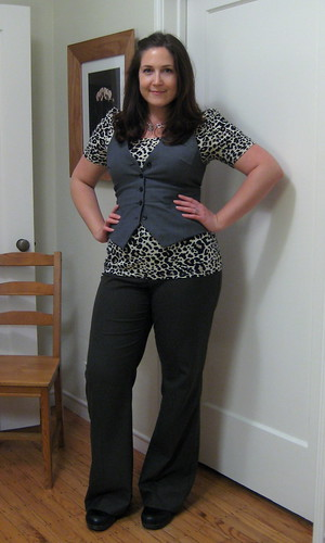 vested leopard