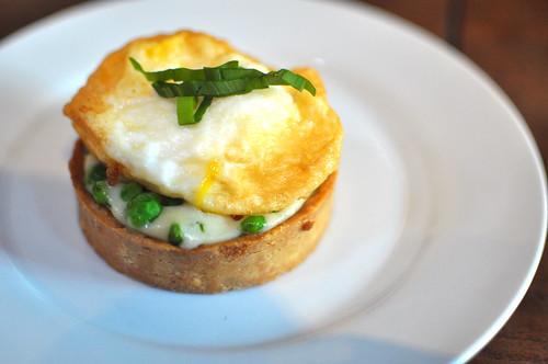Duck Egg in Tart