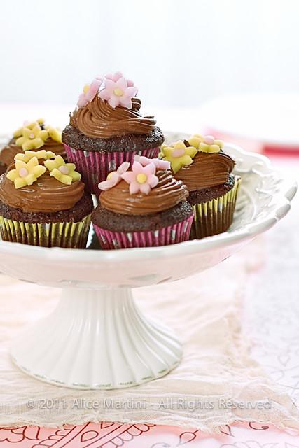 Cupcake al cioccolato e fragole