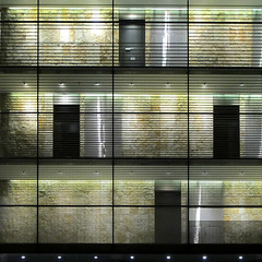 Glassy Cube at Night - Stuttgart, Germany (Batikart) Tags: door city light urban white house abstract black reflection building art window glass lamp lines yellow wall museum architecture modern night facade contrast canon germany square geotagged deutschland lampe licht europa europe pattern floor stuttgart nacht geometry interior fenster wand linie line gelb stadt cube limestone architektur patchwork kontrast reflexion weiss spiegelung gebude tr schwarz glas wrfel fassade reflektion quadrat g11 cubic kunstmuseum badenwrttemberg swabian 2011 kalkstein 100faves 50faves 200faves viewonblack batikart canonpowershotg11 gettygermanyq4