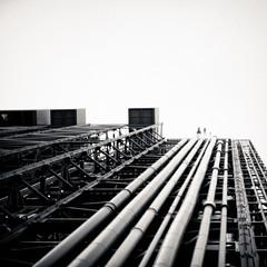 (wenninparis) Tags: sky blackandwhite paris 50mm nikon noiretblanc streetphotography ciel squareformat wenn beaubourg f14g d700 wenninparis