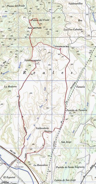 Mapa Cabezo del Fraile