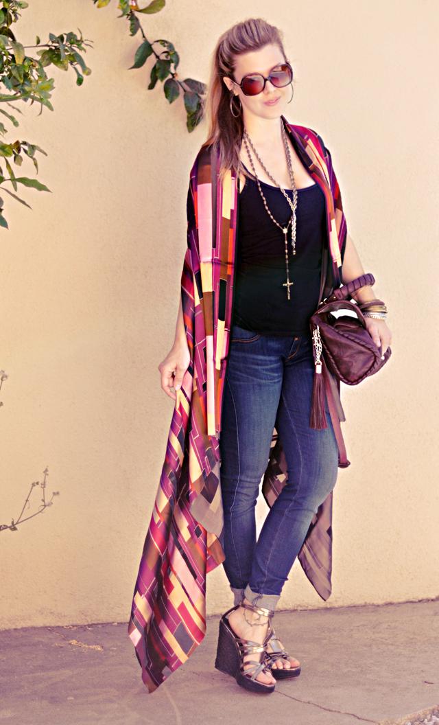 DIY long shawl