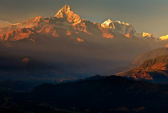 take me there with you (Helminadia Ranford) Tags: travel nepal light sunset nature landscape golden places pokhara annapurna machhapuchre