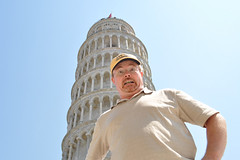 2011 - Mark at the Leaning Tower 6 (cooldogphotos) Tags: italy pisa leaningtower torrependente piazzadeimiracoli piazzadelduomo markjamieson