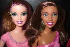 The Turquoise Eye Shadow Club (farmspeedracer) Tags: girls woman black girl beauty fashion toy toys model women friend doll 2000 dolls barbie artsy desiree mermaid aa collector adria fashionistas redressed playline