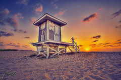 Singer Island Beach Lifeguard Tower Sunrise (Captain Kimo) Tags: digital photoshop sunrise florida highdynamicrange hdri lifeguardtower photomatix hdrphotography hdrphotos topazadjust singerislandbeach hdrbeachphotography
