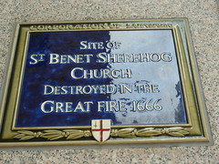 Photo of St. Benet Sherehog blue plaque