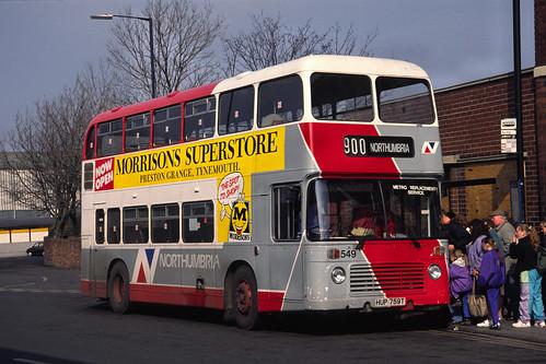 Northumbria Motor Services Bristol VRT / ECW 549 (HUP759T)