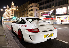 GT3 at night (MartijnBeekmans.com) Tags: auto london car night nikon shot harrods porsche mk2 vr londen mkii gt3 997 1685 d7000