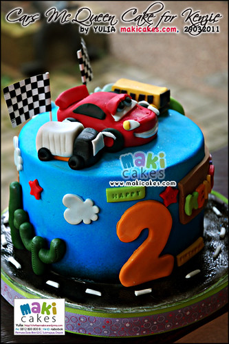 Cars McQueen Cake for Kenzie_ - Maki Cakes