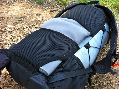 Sleeping Pad and Gossamer Gear Gorilla Backpack