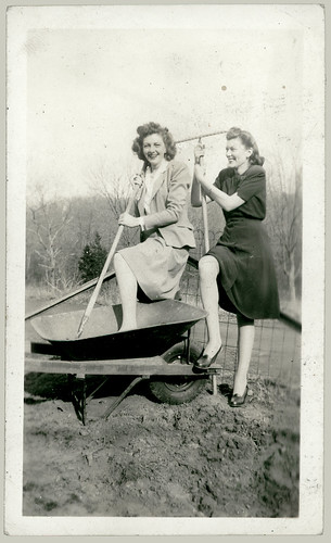 Two women and a Wheelbarrow