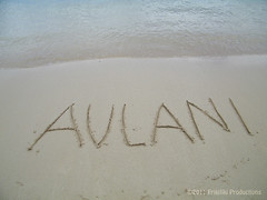 Aulani Sand Writing