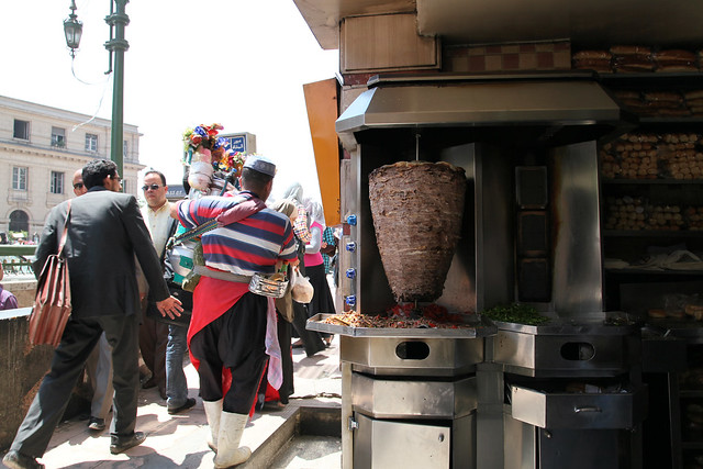 エジプト、カイロのドネルケバブ