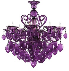 "4079 PURPLE MURANO GLASS CHANDELIER • <a style=""font-size:0.8em;"" href=""http://www.flickr.com/photos/43749930@N04/5744240028/"" target=""_blank"">View on Flickr</a>"