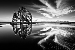 Hvtserkur (Frijfur M.) Tags: longexposure sea sky bw mountain seascape reflection landscape iceland tokina sk fjara sandur speglun hvitserkur hvtserkur flickraward tokina1116 10stopp flickraward5 mygearandme mygearandmepremium mygearandmebronze mygearandmesilver flickrawardgallery dblringexcellence tplringexcellence eltringexcellence