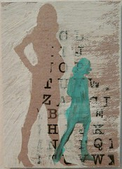working girls atc (evey in orbit) Tags: shadow woman streetart art silhouette atc artisttradingcard