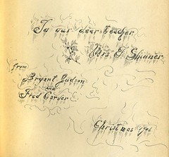 Book inscription 1906 (crackdog) Tags: christmas typography book teacher type inscription