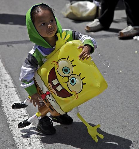 Wrestling SpongeBob