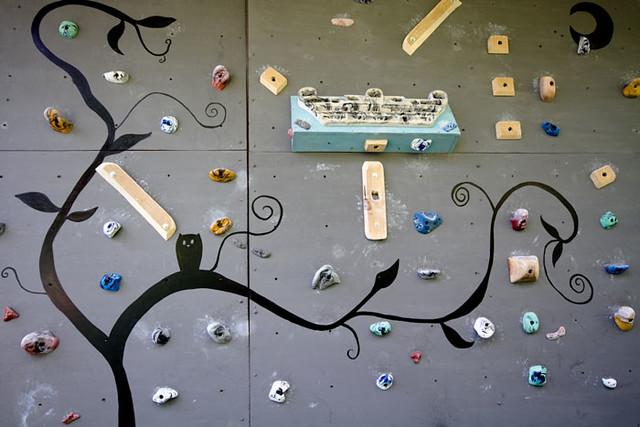Arte no murinho de escalada