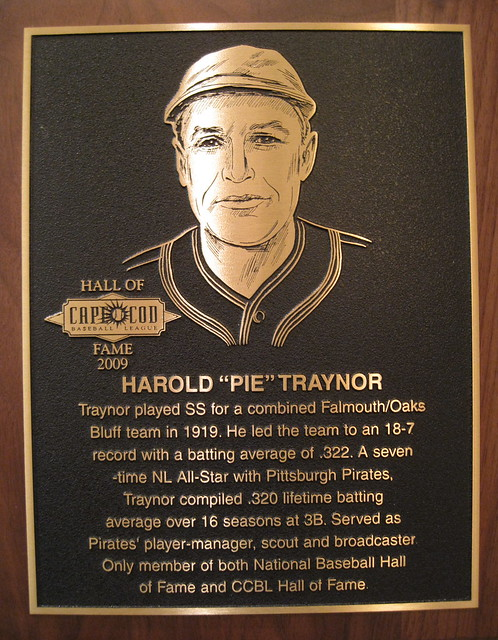 CCBL Hall of Famer Pie Traynor