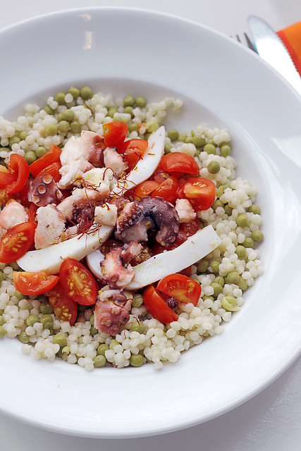 Squid, Octopus and Tomatoes Couscous