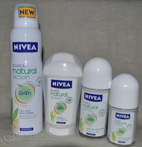 NIVEA Deo Pure and Natural action