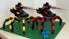 Monkeylords and Titan (OrangeKNight) Tags: scale spider lego micro titan forged mecha commander bot supreme mech alliance monkeylord