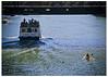 Kayak Under Franklin Street (swanksalot) Tags: chicago water river franklin boat kayak chicagoriver rivernorth licketysplit 18mm200mm swanksalot sethanderson