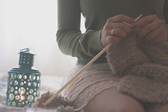 160/365 there's nothing like a cold day (Honey Pie!) Tags: vintage tricot handmade lace feitomo skirt days honey romanti