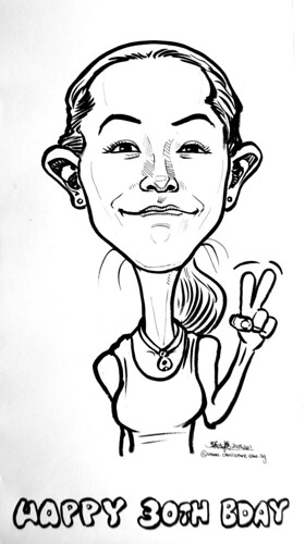 birthday caricature in pen and brush 21052011