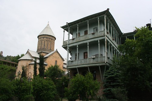 Fotografia da zona antiga de Tbilisi