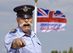 RAF Warrant Officer with the Armed Forces Day Flag (Defence Images) Tags: uk man male military british nco wo defense defence raf 004 personnel royalairforce armedforcesday warrantofficer identifiable afd2011