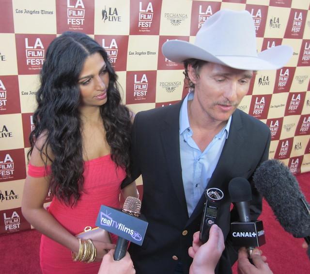 Camilla Alves, Matthew McConaughey, Bernie Premiere, LA Film Festival Opening Night 2011